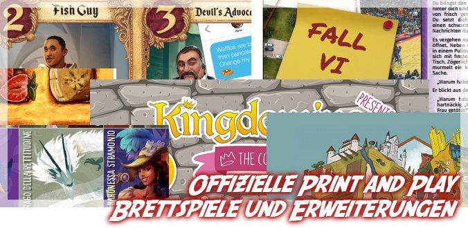 Print and Play Brettspiele und Erweiterungen – Spielspaß für die Corona-Zeit
