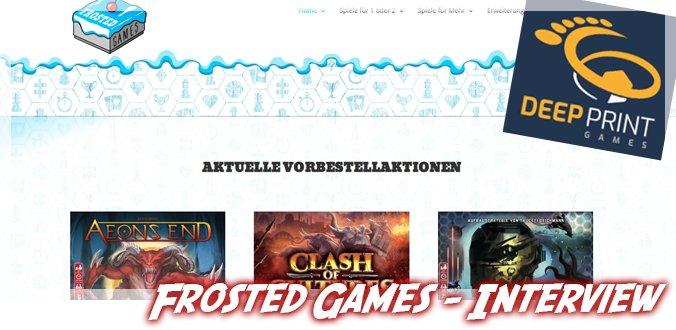 Solospiele, Deep Print Games, neue Spiele, Podcast … Matthias von Frosted Games
