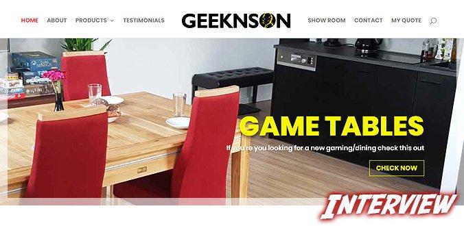 Geeknson – Interview über Brettspieltische, Kickstarter, Besonderheiten und mehr