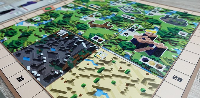 Das Spielertableau in Minecraft: Builders & Biomes