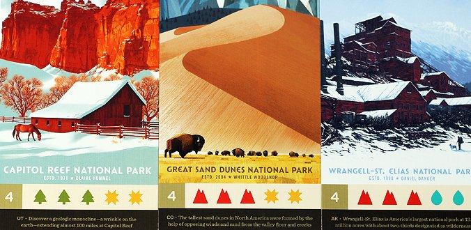 Karten-Illustrationen in Parks