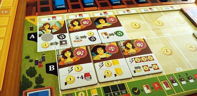 Alma Mater - Das Spielertableau