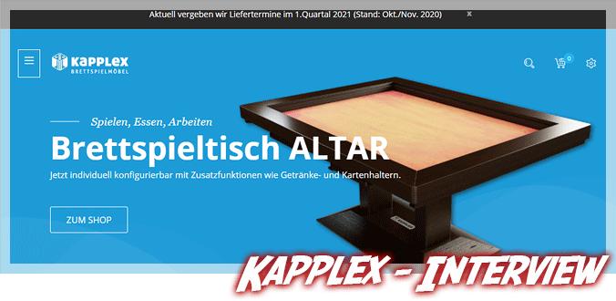 Die Entstehung des Brettspieltisch Altar und mehr Zubehör für Spieler - Kapplex Interview