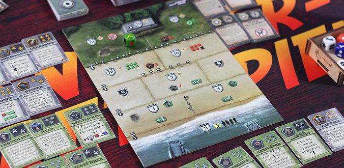 D-Day Dice (Second Edition) Spielmaterial