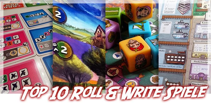 Top 10 Roll & Write Spiele
