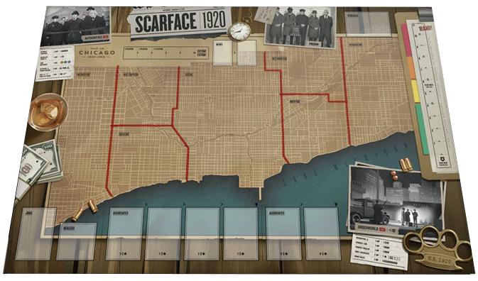 Scarface 1920 - Spielbrett
