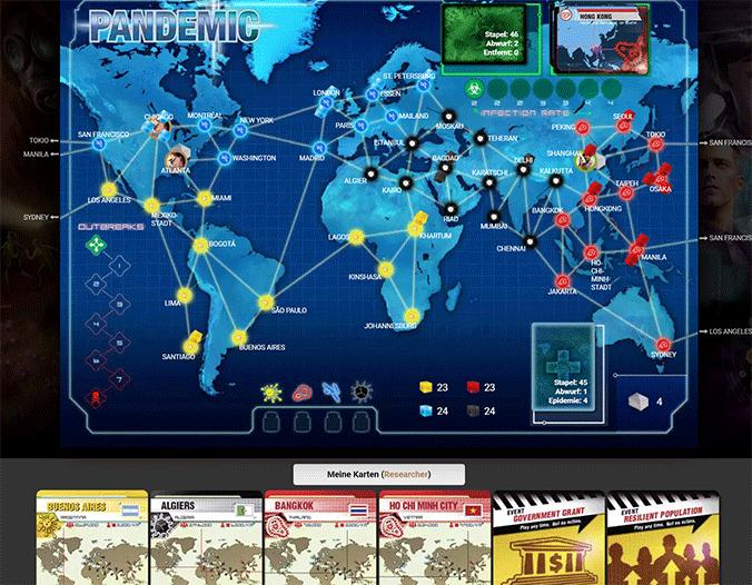 Pandemie/Pandemic auf BoardGameArena