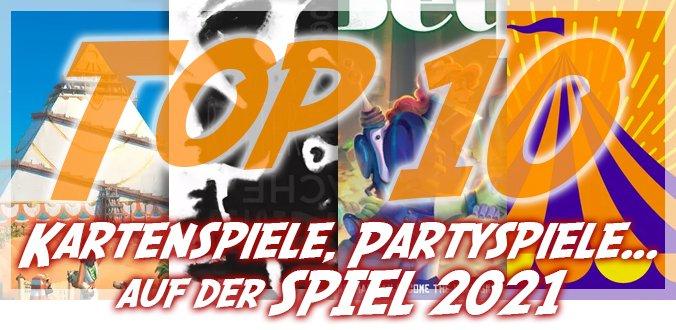 Top 10 Kartenspiele, Partyspiele und kleine Brettspiele auf der SPIEL 2021